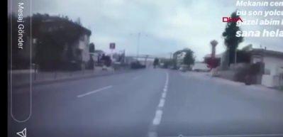 Motosikletli ölüm anını an be an kaydetmiş