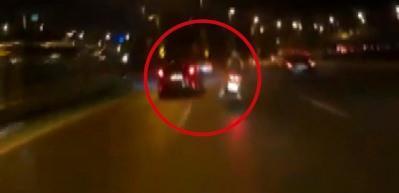 Motosikletlinin öldüğü kazanın kamera kayıtları ortaya çıktı!