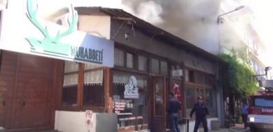 Muğla'daki tarihi Arasta çarşısında yangın