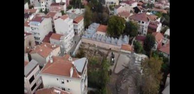 Murad-ı Münzevi Külliyesi havadan görüntülendi