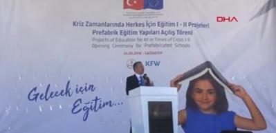 Nizip'te AB, MEB ve KfW ortaklığıyla yapılan okul açıldı