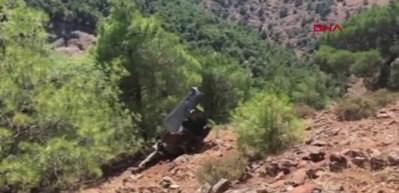 Nurdağı'nda rokete ait olduğu değerlendirilen enkaz bulundu