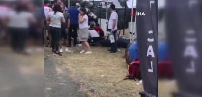 Off road aracı kalabalığın arasına daldı: Yaralılar var!