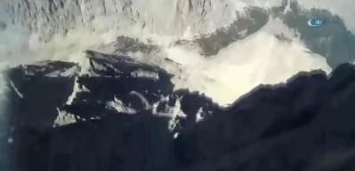 Paraşütçü dağa böyle çakılmış
