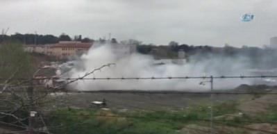 Park halindeki midibüs tinerci tarafından yakıldı
