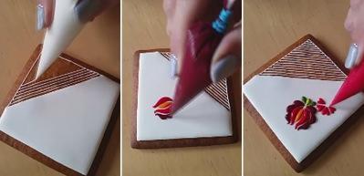 Pasta üzerinde ince işçilik