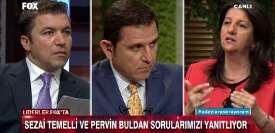 Pervin Buldan'dan FOX TV'de skandal ifadeler