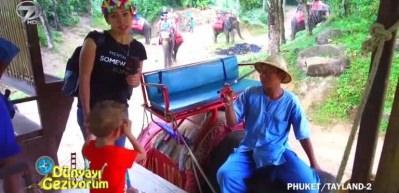 Phuket'in doğasında fillerle safari ve çocukların seveceği papağanlar