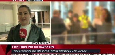 PKK yandaşlarından Londra'da TRT World binasına saldırı