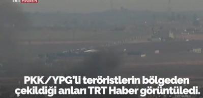 PKK/YPG'lilerin çekilmesi böyle görüntülendi