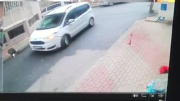 Araba kullanmayı öğrenen genç kız markete daldı!