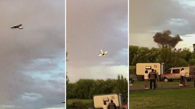 Gösteri uçağı böyle çakıldı!