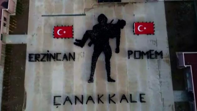 Polis adaylarından göğüs kabartan Çanakkale anması