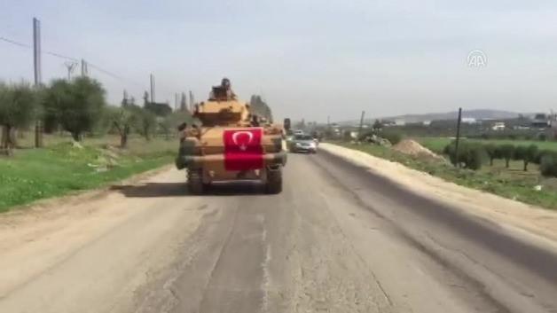Türk tankları Afrin'e böyle girdi