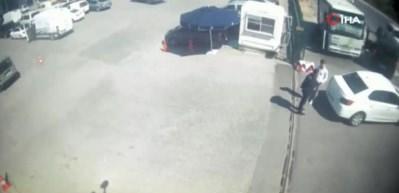 Polisin Amerikan filmlerine taş çıkartacak operasyonu kamerada