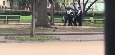 Beyaz Saray önünde alarm! Kendisini ateşe verdi