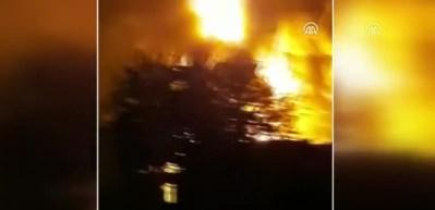 Rasulayn'daki akaryakıt istasyonunda yangın