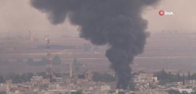 Resulayn'dan dumanlar yükselmeye devam ediyor