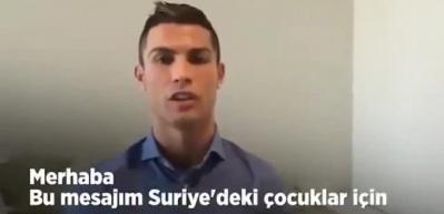 Ronaldo, Suriyeli çocukları unutmadı