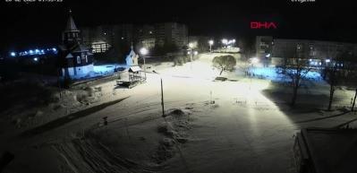 Rusya'da meteor düşme anı kamerada