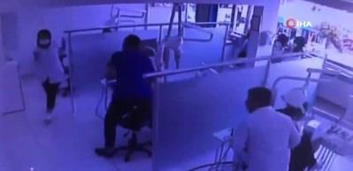 Dişçide deprem anı kamerada! Böyle sallandı!