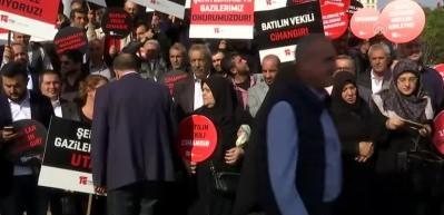 Saadet Partisi milletvekili Cihangir İslam protesto edildi