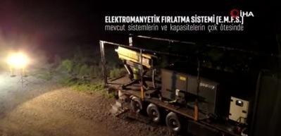 Şahi 209 Block II Elektromanyetik silahının ilk atış testleri başarıyla gerçekleştirildi