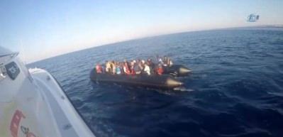 Sahil Güvenlik'ten Yunanistan'a kaçmaya çalışan mültecilere operasyon