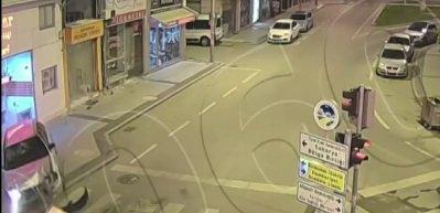 Sakarya'daki kazalar güvenlik kamerasında!