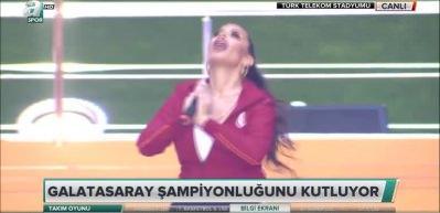 Şampiyonluk kutlamalarına İrem Derici damgası!