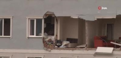 Sancaktepe'de apartman dairesinde patlama: 1 yaralı
