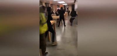 Sarı Yelekliler Apple Store'u bastı!