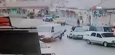 Her şey bir anda oldu! Konya'daki feci kaza kamerada