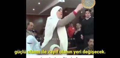 Genç kadın Sisi'nin kuklası hakimi rezil etti