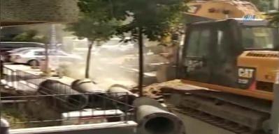 Şişli'de altyapı çalışmaları sırasında doğalgaz borusu patladı