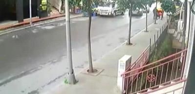 Şişli'de dehşet anları kamerada