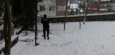 Şişli'de karlar üzerinde ölü bulundu