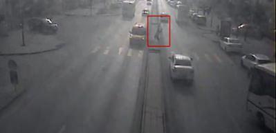 Sivas'ta trafik kazaları MOBESE kameralarında