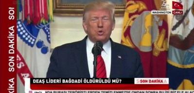 Son dakika: Trump resmen duyurdu: Ebu Bekir el-Bağdadi öldürüldü!