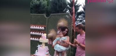 Şükran Ovalı kızı Mihran'a doğum günü partisi yaptı!