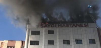 Sultanbeyli'de korkutan hastane yangını!