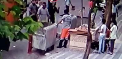 Sultangazi'de temizlik işçisine baltalı saldırı kamerada!
