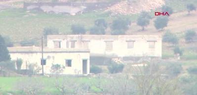 Suriye tarafındaki terör mevzileri görüntülendi