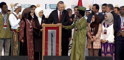 Çadlı öğrenciden Erdoğan'ı duygulandıran konuşma