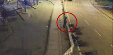 Süs saksılarını tahrip eden özel güvenlik görevlisine gözaltı