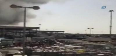 Suudi Arabistan ve BAE sınırında yangın