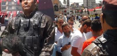 Taksim Meydanı'nda duygulandıran anlar