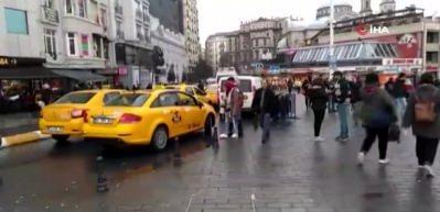 Taksim'de taksicilerin turist avı!