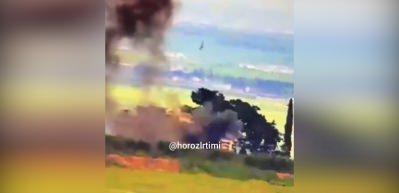 Tanklar YPG karargahını imha etti! Teröristler havaya uçtu