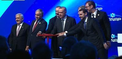 Tarihi gün! TANAP hattı 6 liderle açıldı